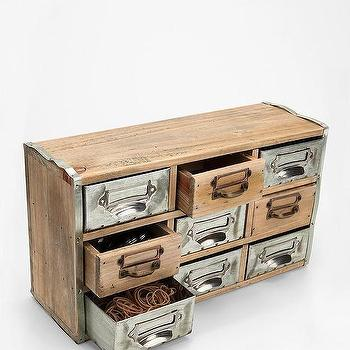 Reclaimed Card Catalog Organizer Cabinet, Urban Outfitters