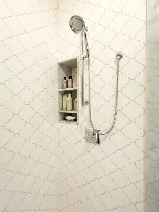 Arabesque Tile Contemporary Bathroom Harry Braswell Inc