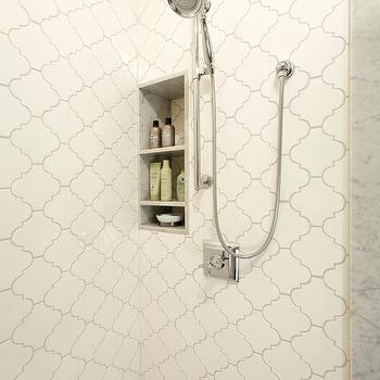 Arabesque Tile, Contemporary, bathroom, Harry Braswell Inc