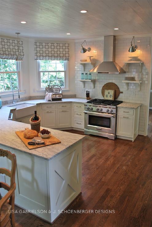 Thunder White Granite : Thunder white granite cottage kitchen benjamin moore