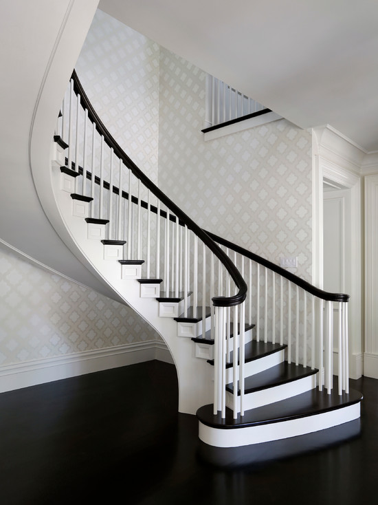 Quatrefoil Wallpaper Contemporary Entrancefoyer Markay