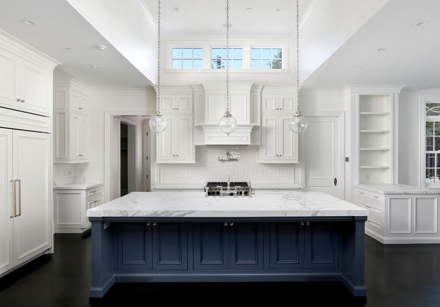 Blue Kitchen Island Contemporary Kitchen Markay