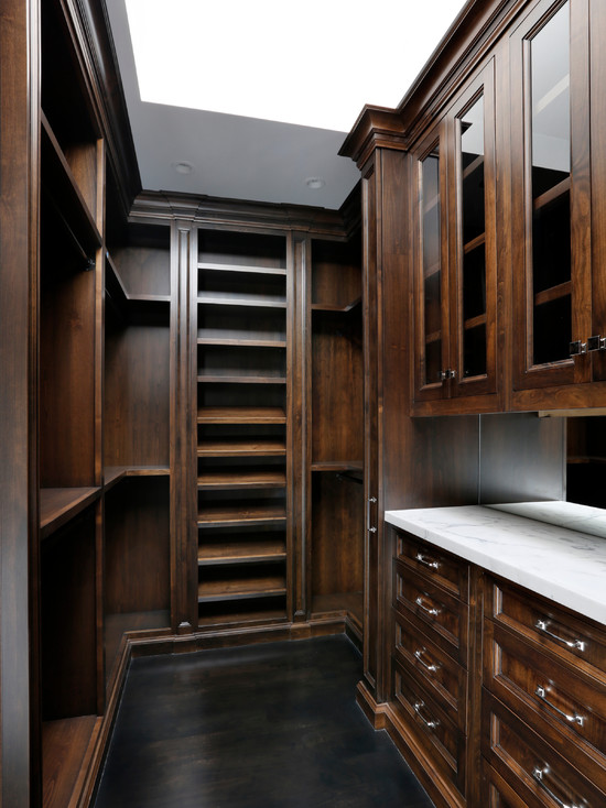 Mahogany Built In Cabinets Transitional Closet