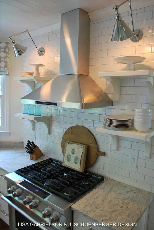 Thunder White Granite Countertops Cottage Kitchen