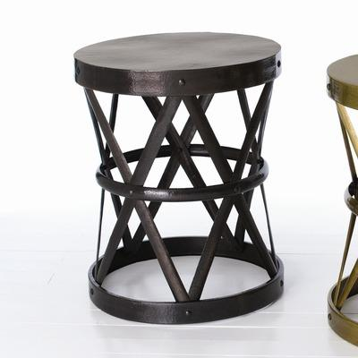 ARTERIORS Home Costello Accent Table In Distressed Dark Vintage Brass    Wayfair