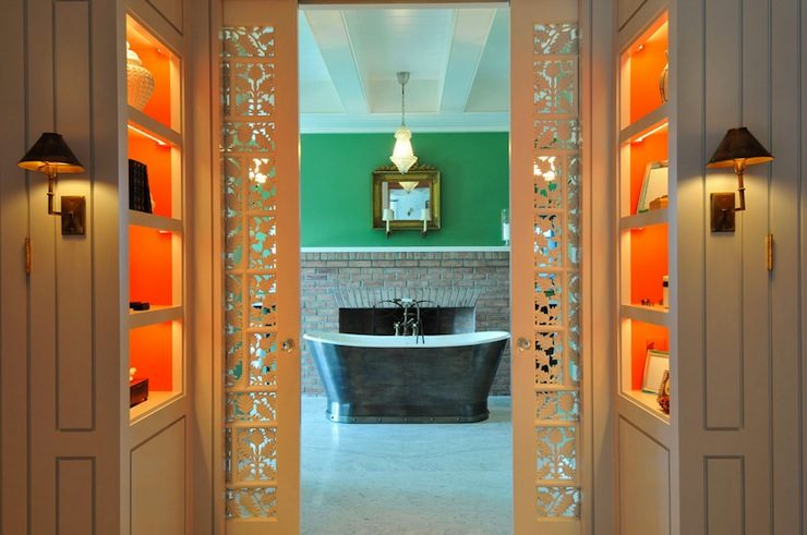 Master Bathroom Pocket Doors Design Ideas