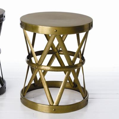 Charming ARTERIORS Home Costello Side Table In Distressed English Bronze | Wayfair