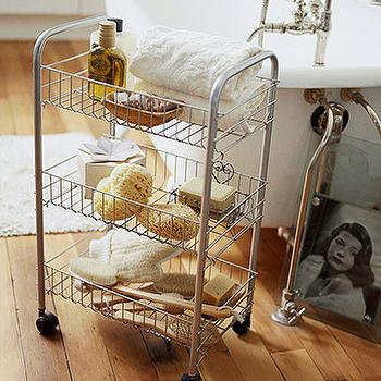 Vintage Bath Cart. Round Bathroom Cart Design Ideas