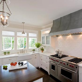 Zinc french kitchen hoods design ideas for Kitchen zinc design