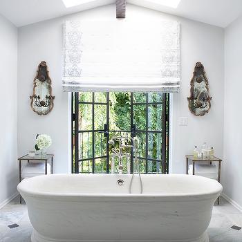 Bathroom Skylights, Mediterranean, bathroom, Nate Berkus Design
