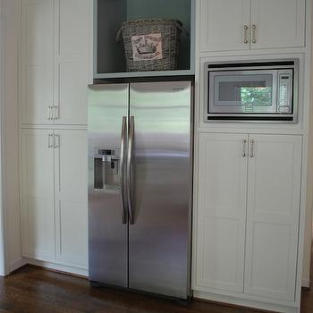 Great Cabinets Above Refrigerator