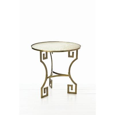 Dunmoore Greek Key Mirrored Side Table - Wayfair mirrored side table