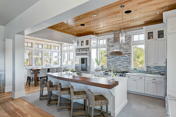 Modern Cottage Kitchen Design white and blue kitchen - cottage - kitchen - liz carroll interiors