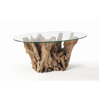 driftwood oval coffee table