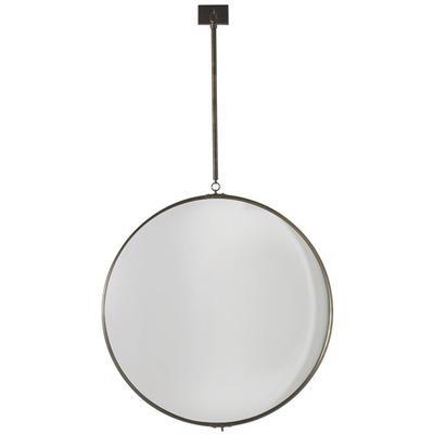 industrial hanging wood frame mirror. Black Bedroom Furniture Sets. Home Design Ideas