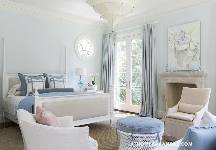 light blue bedroom paint blue walls transitional bedroom glidden westerly 15809