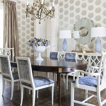 White Mirrored Buffet, Transitional, dining room, At Home in Arkansas