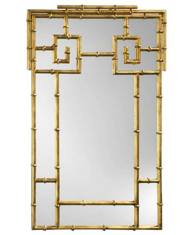 High Street Market Gold Gilded Faux Bamboo Mirror