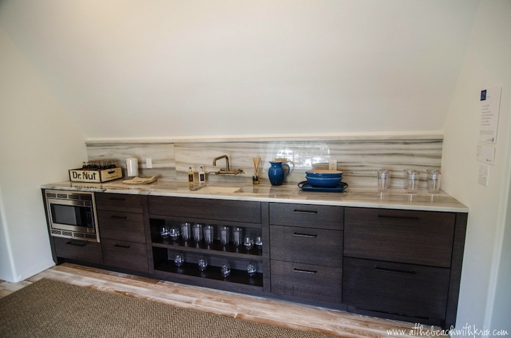 Wet Bar Design - Contemporary - media room - At the Beach with Kris