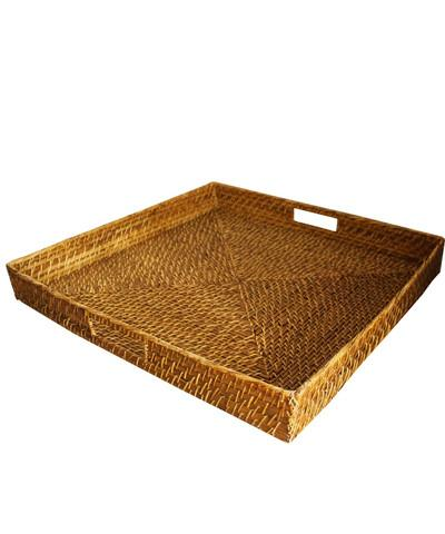 Relatively High Street Market Extra Large Square Woven Serving Tray CQ63