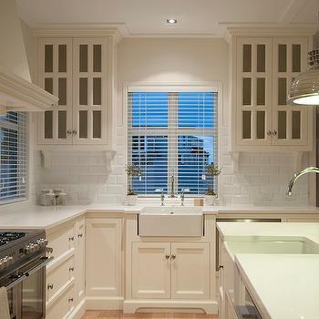 Beveled Subway Tile, Cottage, kitchen, Paradise Building Development