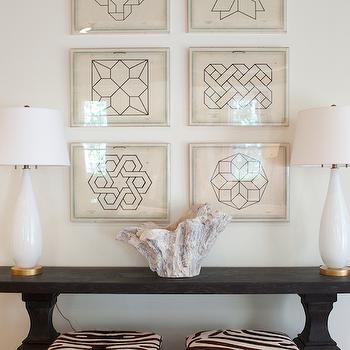 Jean Baptiste Geometric Prints, entrance/foyer, Summer House Style