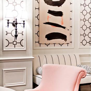 Pink Velvet Chair Eclectic Living Room Windsor Smith