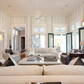 French Doors in Living Room, Transitional, living room, Summer House Style