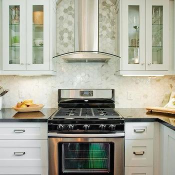 marble hexagon tile kitchen backsplash tiles contemporary kitchen