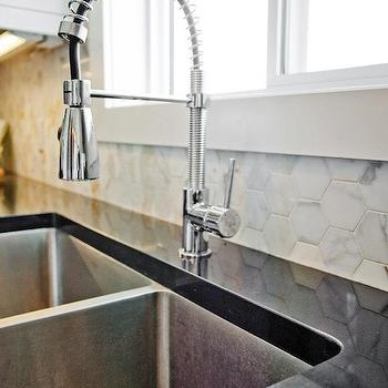 Marble Hexagon Tile, Contemporary, kitchen, Madison Taylor Design