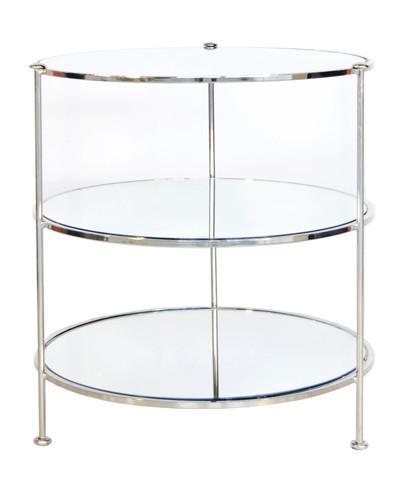 High Street Market   Fairmont Nickel U0026 Mirror Side Table