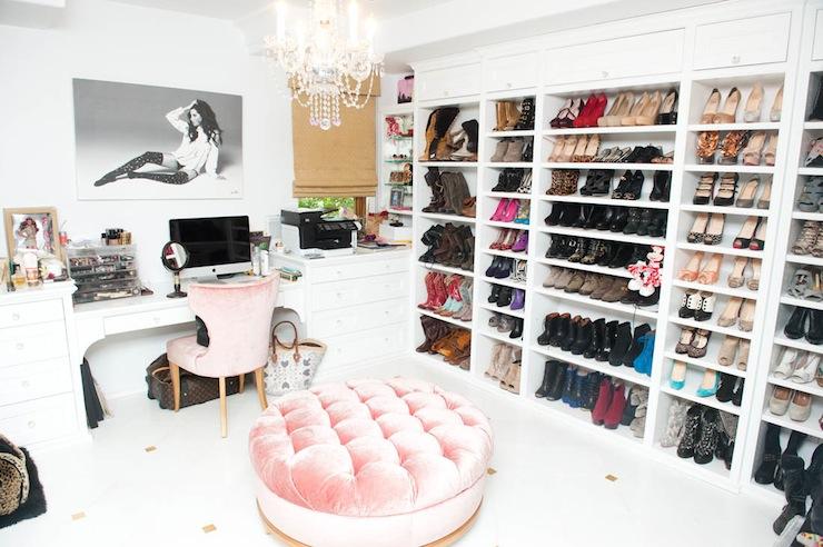 Pink Velvet Chair Contemporary Closet The Coveteur
