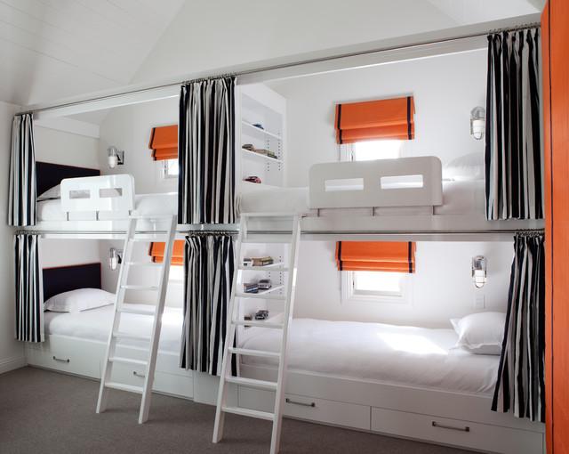 Built In Bunk Beds Modern Boy S Room Diane Bergeron Interiors