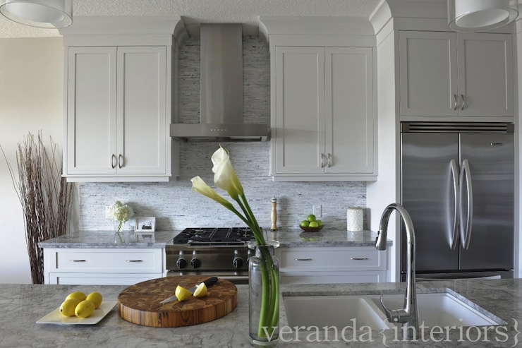 Cabinets Above Refrigerator Contemporary Kitchen Veranda Interiors