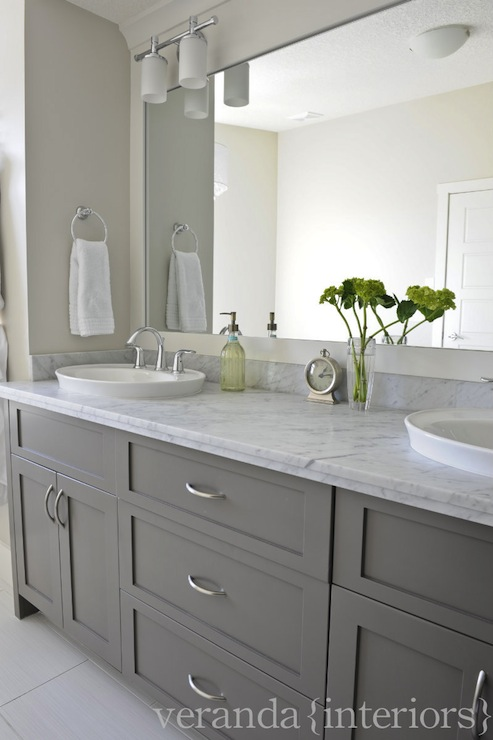 Gray bathroom vanity design ideas for Double sink countertop bathroom