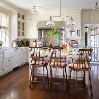 Rustic White Country Kitchen rustic wood floors - country - kitchen - john b murray architect