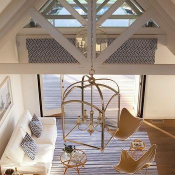 Quadrille Fabrics Java Java, Cottage, living room, Diane Bergeron Interiors