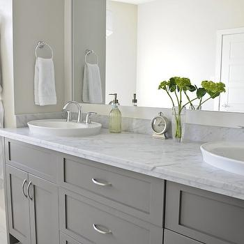 Gray Bathroom Vanities, Contemporary, bathroom, Veranda Interiors