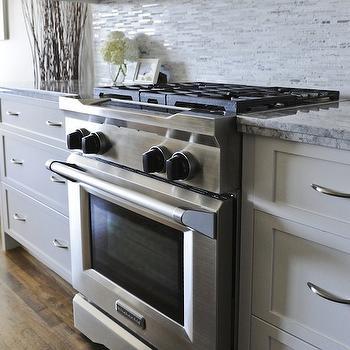Mosaic Marble Backsplash Tiles, Contemporary, kitchen, Veranda Interiors