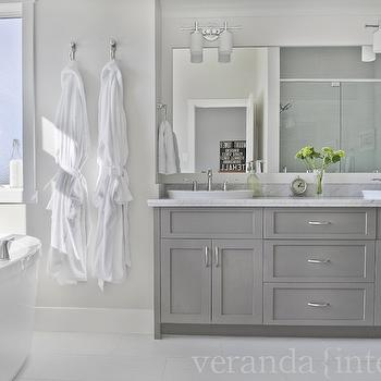 Gray Cabinets, Contemporary, bathroom, Veranda Interiors