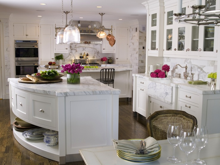 Curved Kitchen Island - Transitional - kitchen - St. Charles of New York