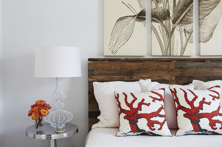 Wood Plank Headboard - Cottage - bedroom