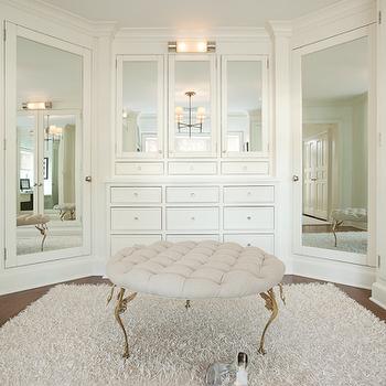 Mirrored Doors, Transitional, closet, Ali Schwarz Design Group
