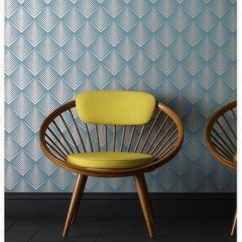Blue Geometric Wallpaper, Graham & Brown