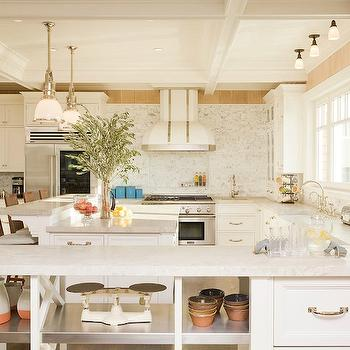 U Shaped With Peninsula Design Kitchen Open Shelving on l-shaped kitchen with peninsula, remodel kitchens with a peninsula, galley kitchen with peninsula, g shaped kitchen with peninsula,