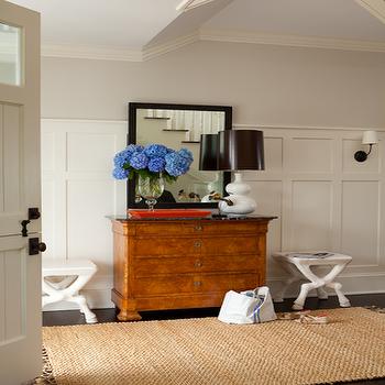Board and Batten Walls, Cottage, entrance/foyer, Ali Schwarz Design Group