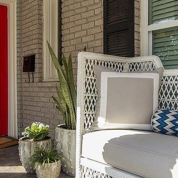 Modern Porch Bench, Contemporary, porch, EJ Interiors