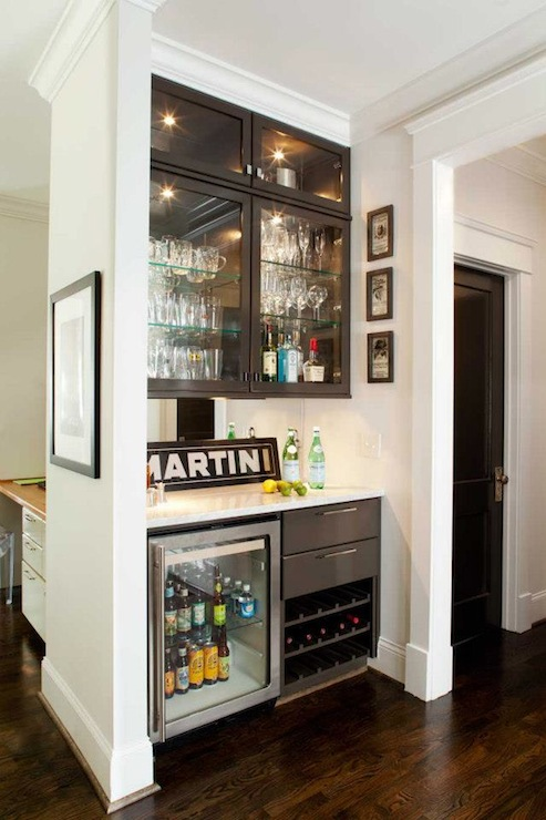 view full size chic mini bar design