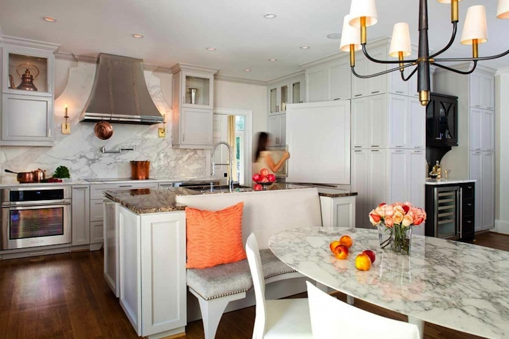 Kitchen Island Banquette Contemporary