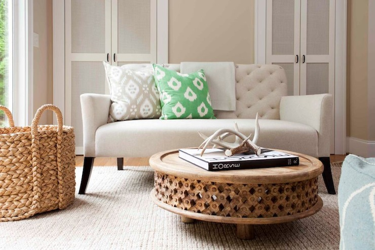 Carved Wood Coffee Table Design Ideas - West elm carved wood side table